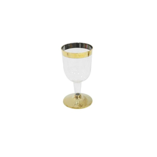 Taça para Vinho Dourada - 4 un - 210 ml - Silver Festas