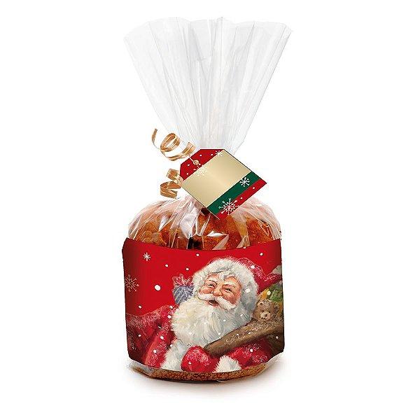 Kit Panetone 500g Natal Mágico - 10 unidades - Cromus Natal - Rizzo Embalagens e Festas