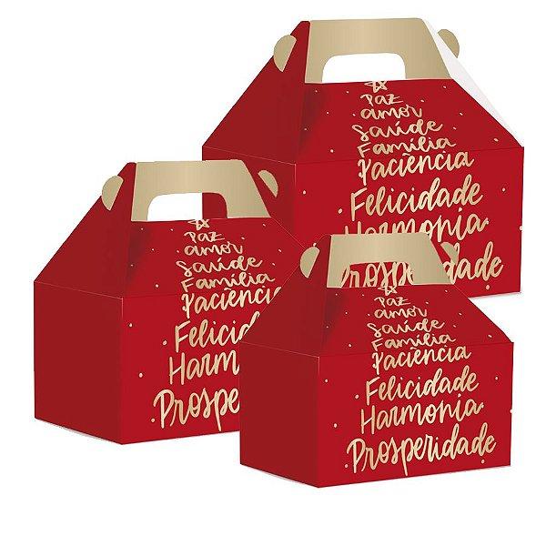 Caixa Maleta Kids Natal Votos - 10 unidades - Natal Cromus - Rizzo Embalagens e Festas