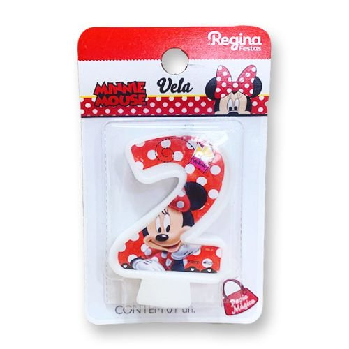 Vela Festa Minnie Número 2 - 01 unidade - Regina - Rizzo Festas