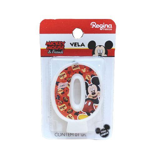 Vela Festa Mickey Número 0 - 01 unidade - Regina - Rizzo Festas