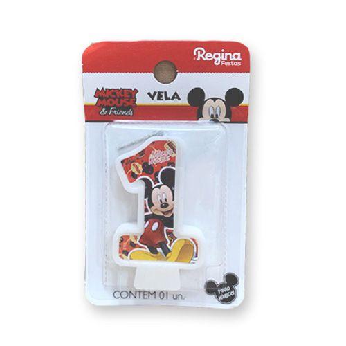 Vela Festa Mickey Número 1 - 01 unidade - Regina - Rizzo Festas