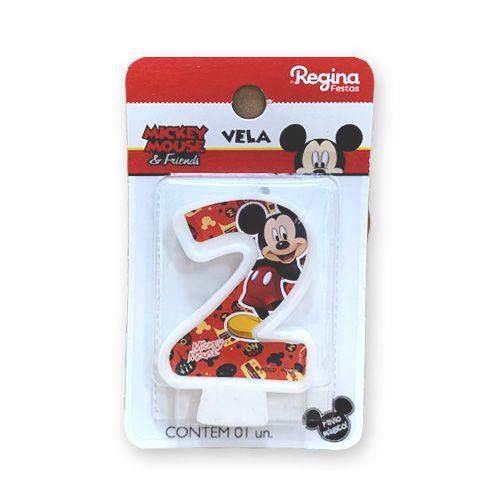 Vela Festa Mickey Número 2 - 01 unidade - Regina - Rizzo Festas