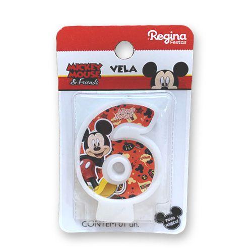Vela Festa Mickey Número 6 - 01 unidade - Regina - Rizzo Festas