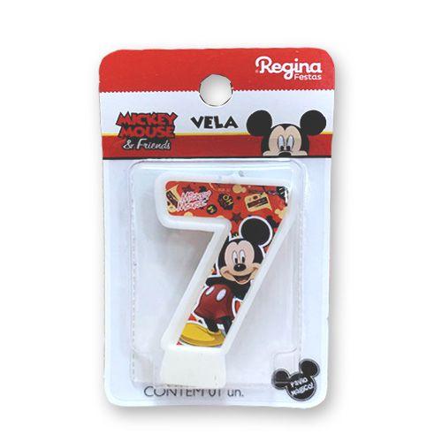 Vela Festa Mickey Número 7 - 01 unidade - Regina - Rizzo Festas