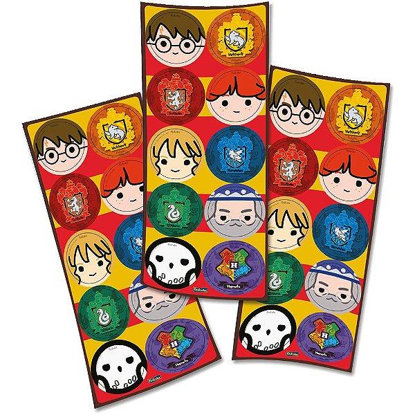 Adesivo para Lembrancinha Festa Harry Potter Kids - 30 unidades - Festcolor - Rizzo Festas