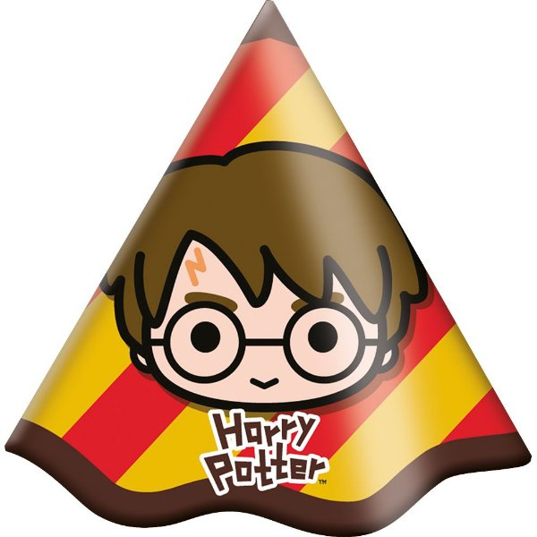 Chapéu de Aniversário Festa Harry Potter Kids - 08 unidades - Festcolor - Rizzo Festas