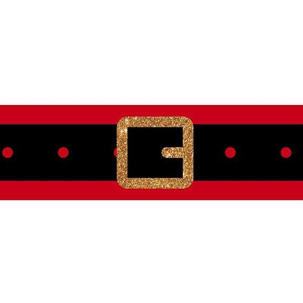 Fita de Natal em Gorgurão Vermelho Cinto Papai Noel  EGP009TG 008 - 38mm x 10m - Progresso