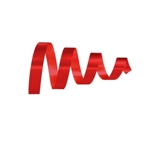 Rolo Fita Lisa Vermelho - 15mm x 50m - EmFesta - Rizzo Embalagens