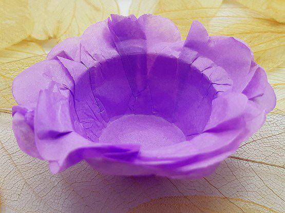 Forminha para Doces Floral em Seda Lilás Escuro - 40 unidades - Decorart - Rizzo Embalagens