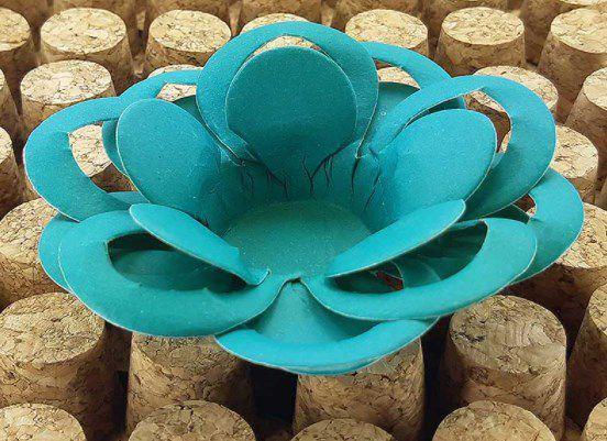 Forminha para Doces Floral Loá Colorset Azul Turquesa - 40 unidades - Decorart - Rizzo Embalagens