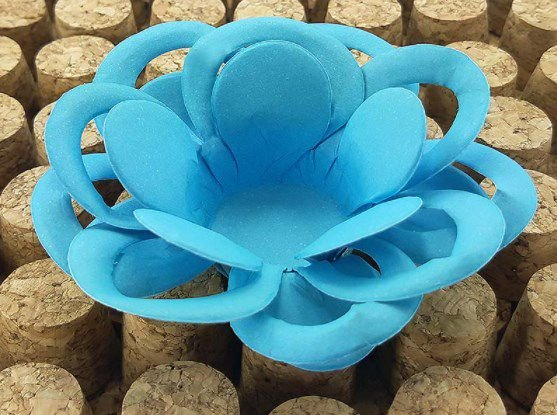 Forminha para Doces Floral Loá Colorset Azul Claro - 40 unidades - Decorart - Rizzo Embalagens