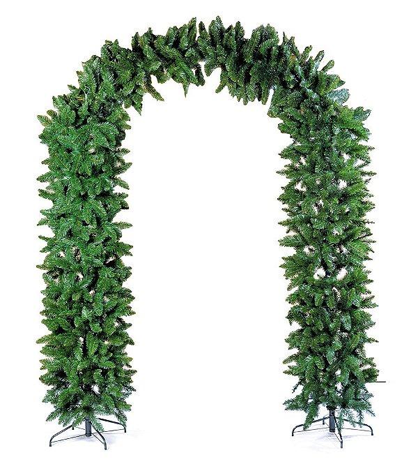 Arco Festão Verde com 1466 Hastes 250cm - 01 unidade - Cromus Natal - Rizzo Embalagens