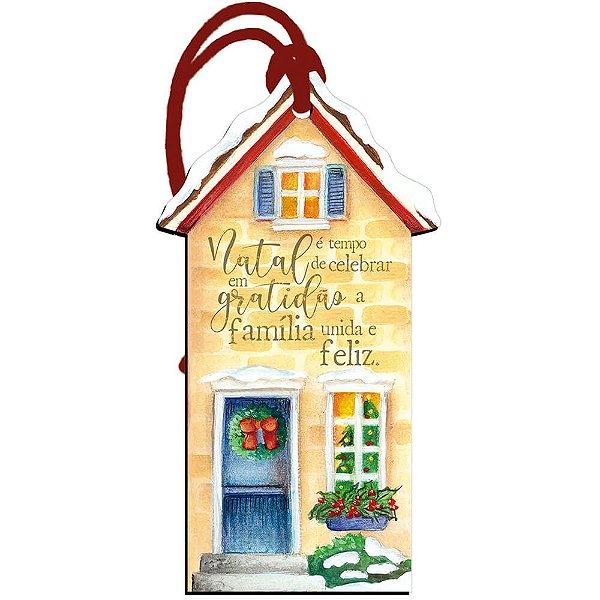 Decor Home Tag Natal - Casa - DHTN-018 - LitoArte - Rizzo Embalagens