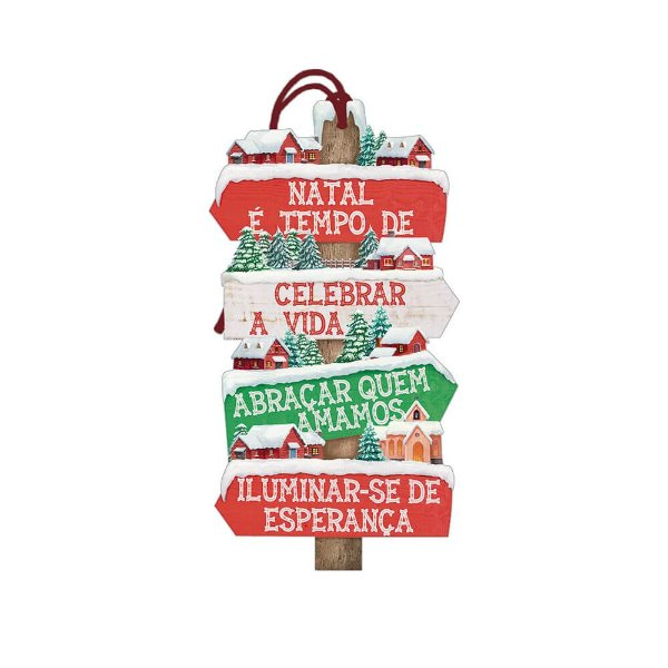 Decor Home Tag Natal - Natal é Tempo... - DHTN-022 - LitoArte - Rizzo Embalagens