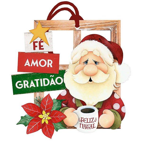 Decor Home Tag 7 Natal -Fé, Amor e Gratidão - DHT7N-001 - LitoArte - Rizzo Embalagens