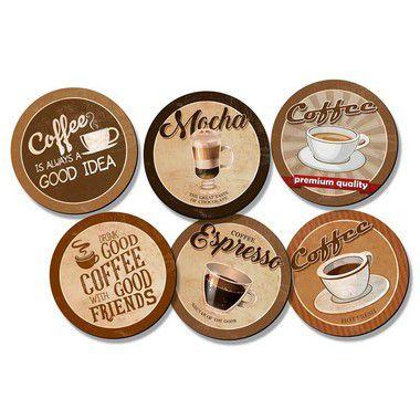 Kit Porta Copos - Coffee Premium - KPCL-006 - Litoarte Rizzo Embalagens
