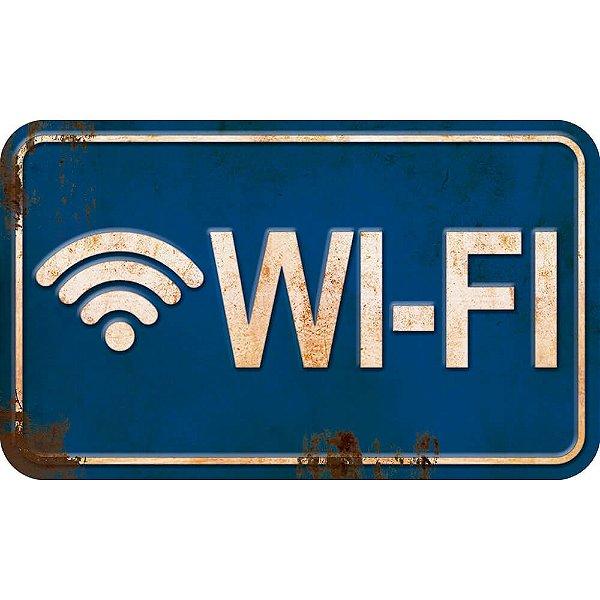 Placa Decorativa em MDF - Wi-Fi - DHPM-102 -  LitoArte - Rizzo Embalagens