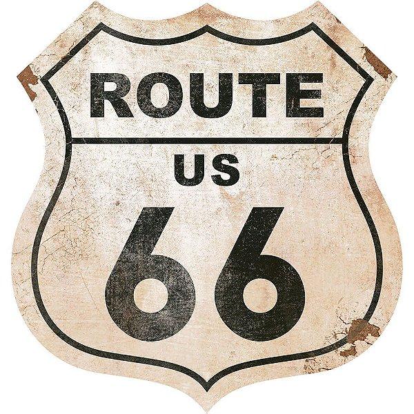 Placa Decorativa em MDF - Route Us 66 - DHPM-023 -  LitoArte - Rizzo Embalagens