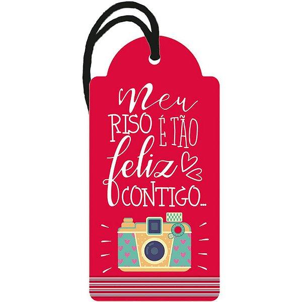 Decor Home Tag 2 - Meu Riso é tão Feliz Contigo - DHT2-070 -  LitoArte - Rizzo Embalagens