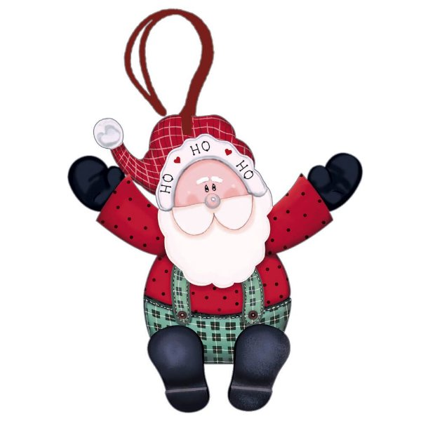 Decor Home Tag 4 Natal - Papai Noel - DHT4N-009 - LitoArte - Rizzo Embalagens