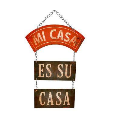 Placa Decorativa em MDF - Mi Casa - DHPM5-229 - LitoArte - Rizzo Embalagens