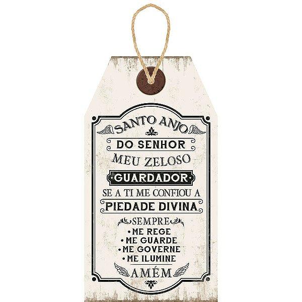 Placa Decorativa em MDF - Santo Anjo- DHPM5-251 - LitoArte - Rizzo Embalagens