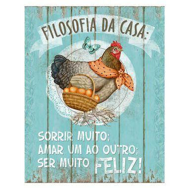 Placa Decorativa em MDF - Filosofia da Casa - DHPM-001 - LitoArte Rizzo Embalagens