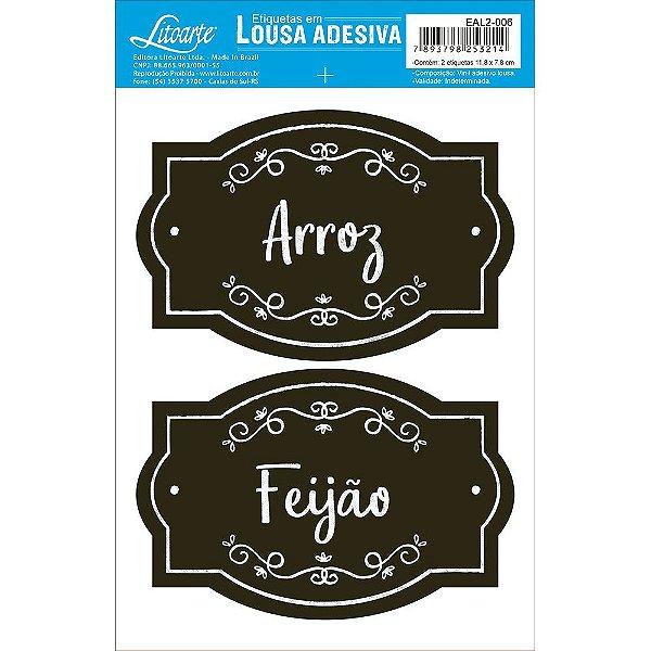 Etiqueta Lousa Adesiva em Vinil - Arroz, Feijão - EAL2-006 - LitoArte - Rizzo Embalagens