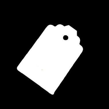 Tag Branco com Furo - 10 unidades - Rizzo Embalagens