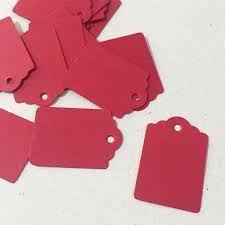 Tag Vermelha com Furo - 10 unidades - Rizzo Embalagens