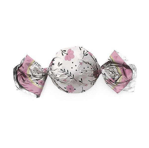Papel Trufa 14,5x15,5cm - Flower Rosa - 100 unidades - Cromus