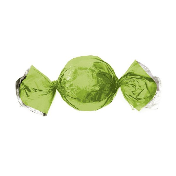 Papel Trufa 14,5x15,5cm - Metalizado Verde Maçã - 100 unidades - Cromus - Rizzo Embalagens