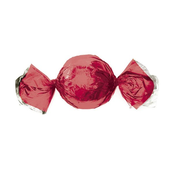 Papel Trufa 14,5x15,5cm - Metalizado Vermelho - 100 unidades - Cromus - Rizzo Embalagens