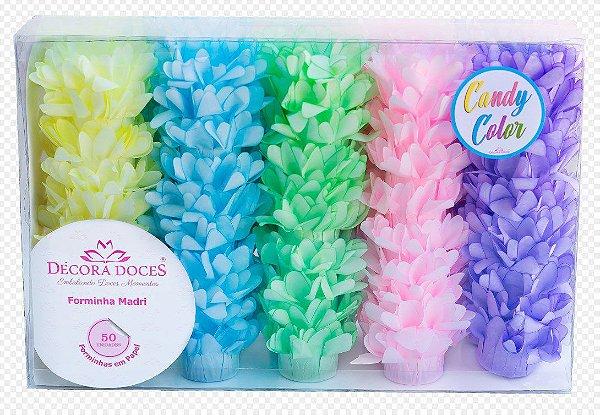 Forminha para Doces Finos - Madri Candy Color - 50 unidades - Decora Doces - Rizzo Festas