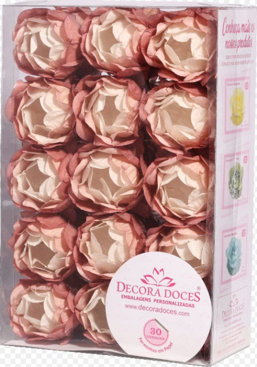 Forminha para Doces Finos - Bela Degrade Nude Antigo - 30 unidades - Decora Doces - Rizzo Festas