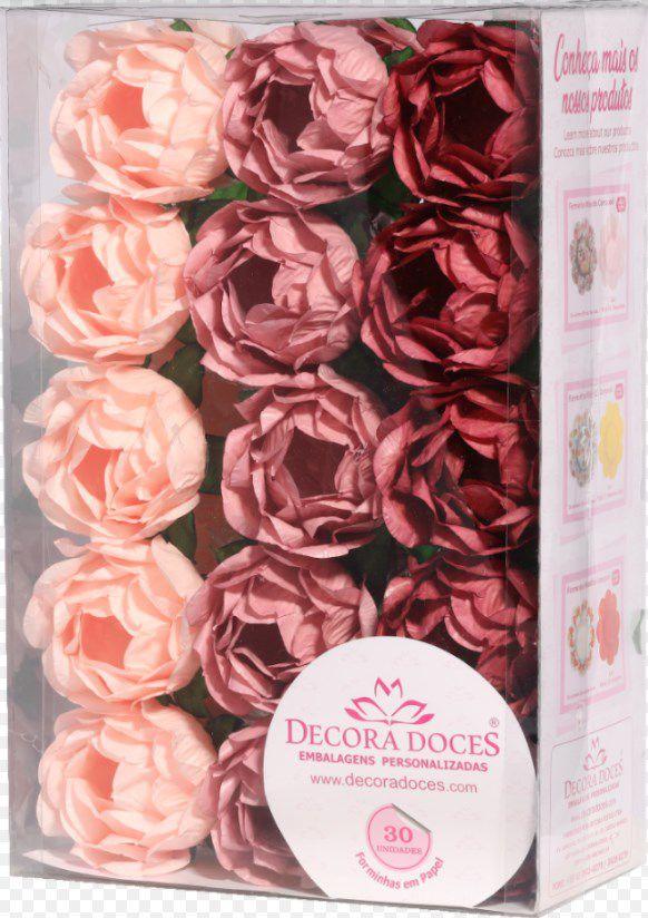 Forminha para Doces Finos - Bela Tons Rosas Seco - 30 unidades - Decora Doces - Rizzo Festas