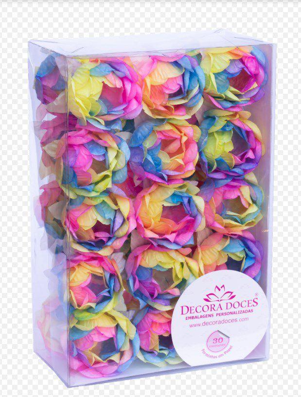 Forminha para Doces Finos - Bela Tie Dye Vivid - 30 unidades - Decora Doces - Rizzo Festas