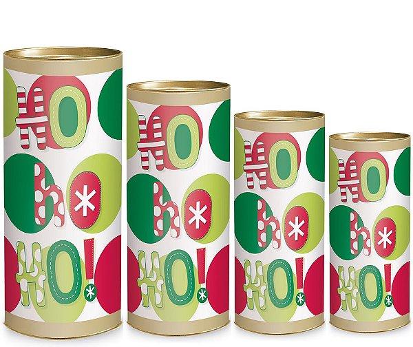 Lata para Presente - HoHoHo - 01 unidade - Cromus Natal - Rizzo Embalagens