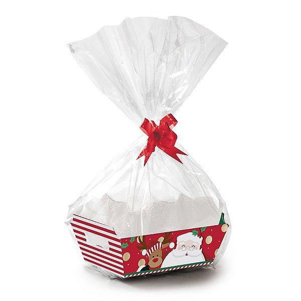 Kit Cesta Abraço do Noel - 01 unidade - Cromus Natal - Rizzo Embalagens