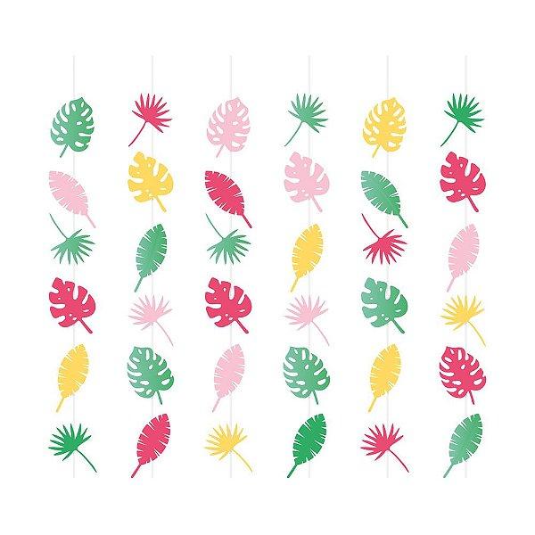 Cortina Decorativa - Festa Flamingo - 06 unidades - Cromus - Rizzo Festas