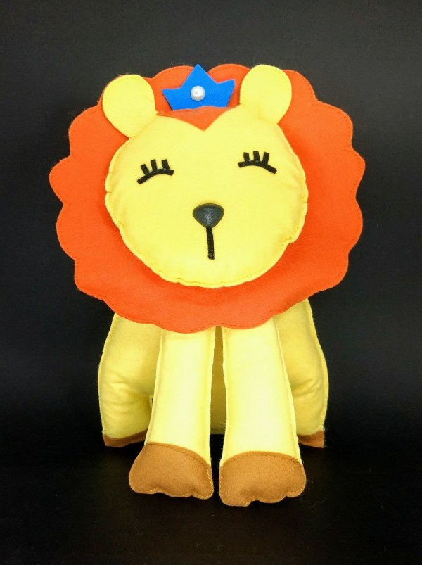 Leão Bichinhos Baby em Feltro - 01 unidade - Pé de Pano - Rizzo Embalagens