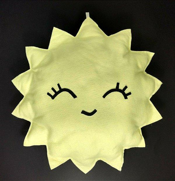 Sol Amarelo em Feltro G - 01 unidade - Pé de Pano - Rizzo Embalagens