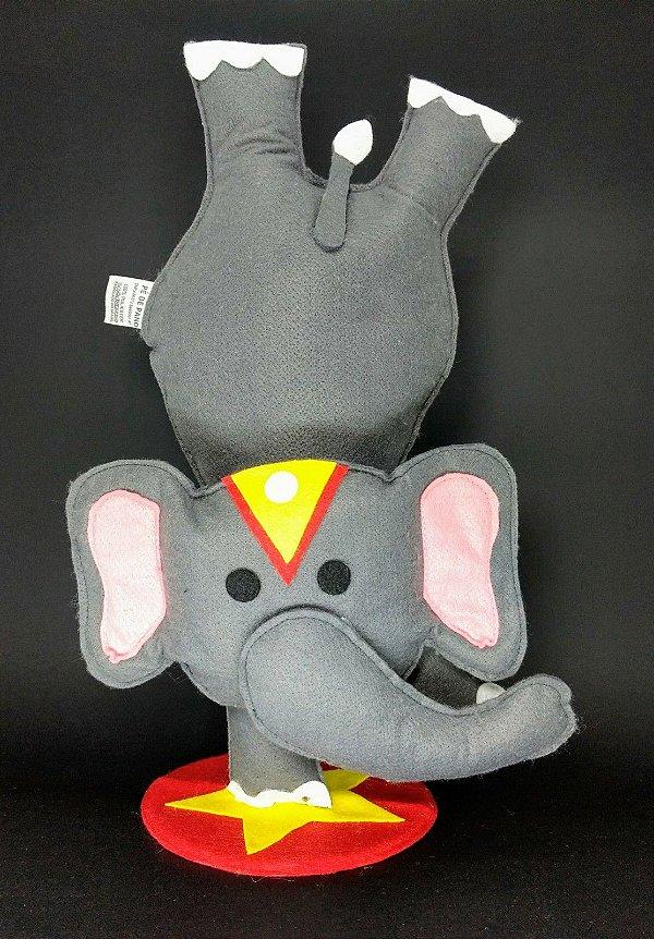 Elefante Circo em Feltro - 01 Unidade - Pé de Pano - Rizzo Festas