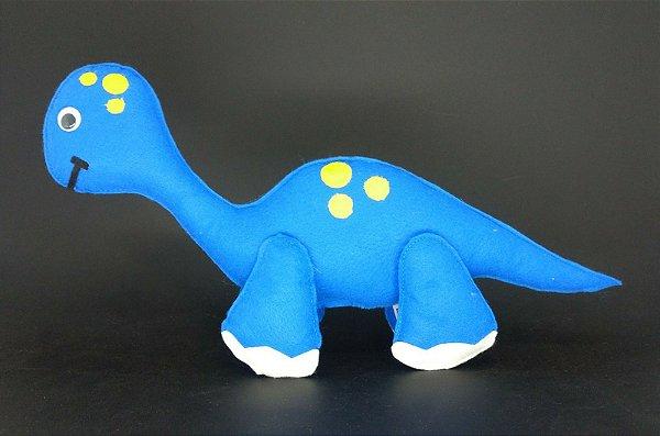 Dinossauro Baby Azul em Feltro - 01 Unidade - Pé de Pano - Rizzo Festas