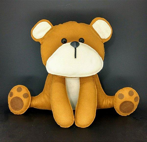 Urso Bosque em Feltro - 01 Unidade - Pé de Pano - Rizzo Festas