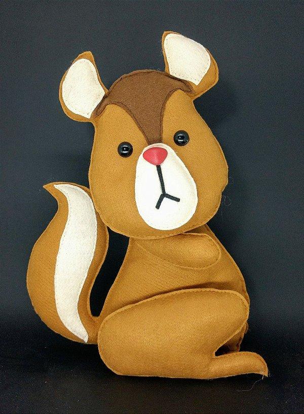 Esquilo Bosque em Feltro - 01 Unidade - Pé de Pano - Rizzo Festas