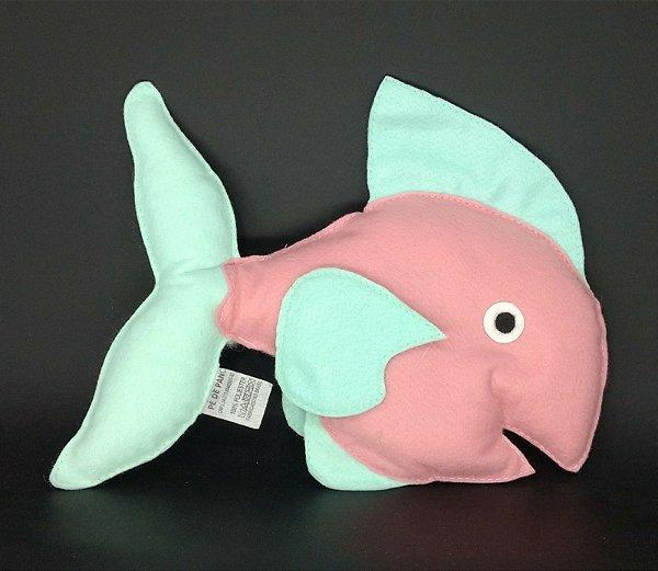 Peixe Rosa em Feltro - 01 Unidade - Pé de Pano - Rizzo Festas