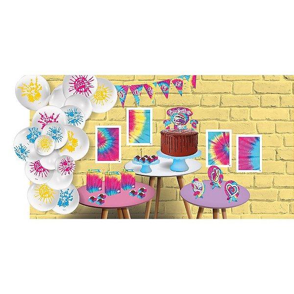 Kit Festa Tie Dye - Festcolor - Rizzo Festas