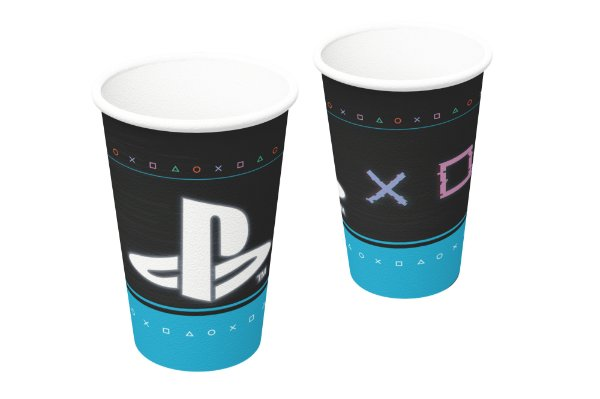 Copo de Papel 200ml Festa Playstation 12x08 - 8 Unidades - Festcolor - Rizzo Festas